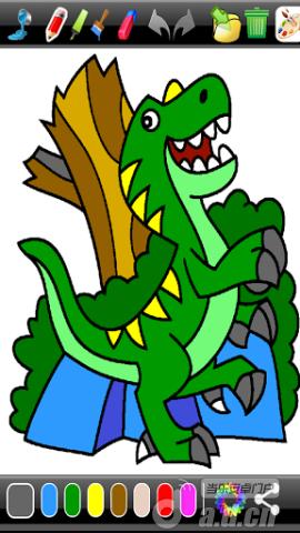 恐龍著色 Dinosaur Coloring Game v3.82-Android益智休闲類遊戲下載