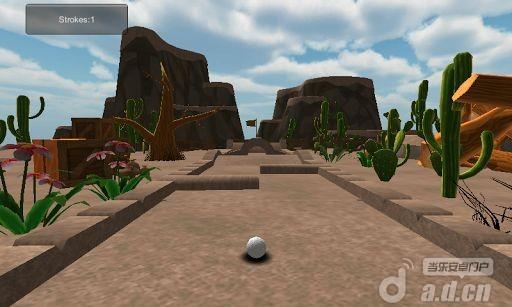 卡通沙漠迷你高尔夫 Cartoon desert mini golf 3D